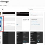WordPress interface when inserting an image on a page or post.