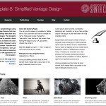 Vantage template with simple clean features