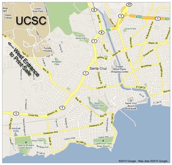 santa cruz university map Maps Contemporary Print Media Research Center santa cruz university map
