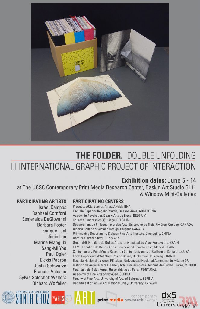 Poster for the FOLDER exhibition