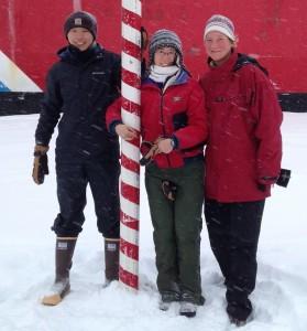 Yang, Phoebe, Maija at the North Pole