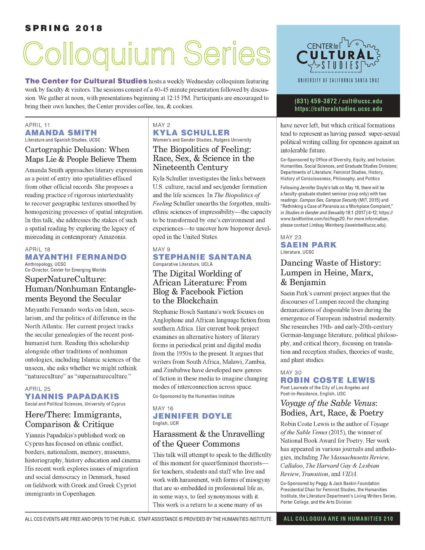 The Spring Newsletter is shown