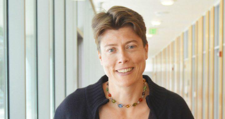Jenny Reardon is shown in a hallway.
