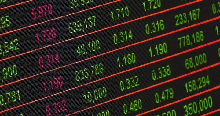 Photo of stock ticker