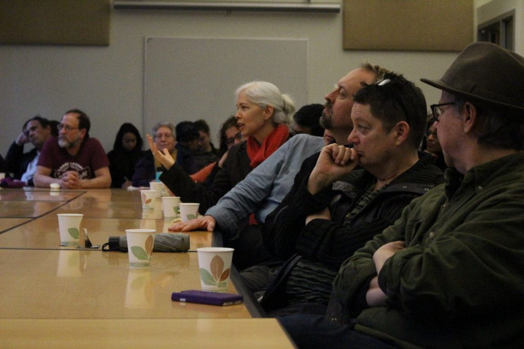 Audience members during Laurie Palmer's colloquium