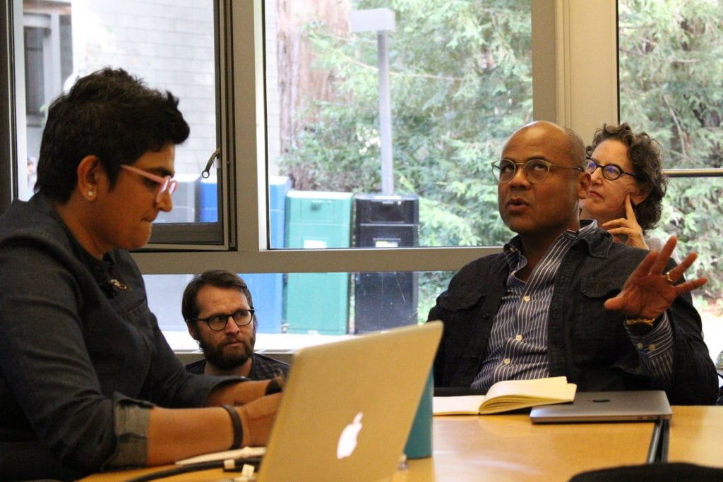 Ronaldo Wilson commenting on Anjali Arondekar's colloquium talk