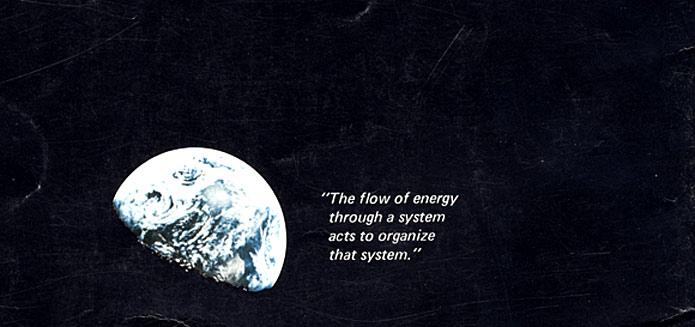The back of the Whole Earth Catalog in 1969, showing a NASA-mission image of Earth from space.
