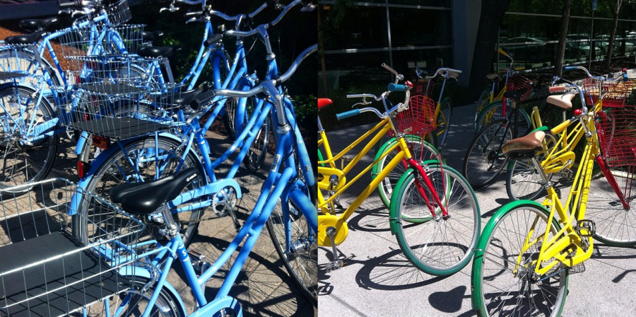 Facebook and Google Bikes