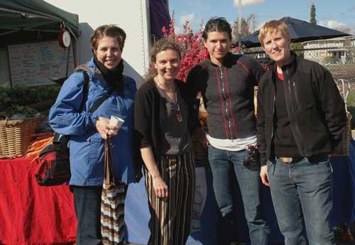 Locavore founders Jessica Prentice, Sage Van Wing, Dede Sampson at the Berkeley Farmers' Market