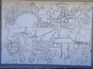 Inked Mural