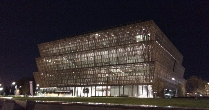 NMAAHC Night-photo by Gretchen Henderson
