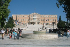 Greek Parliament Building. Photo by Wally G.