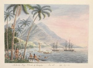 Watercolor of Matavai Bay