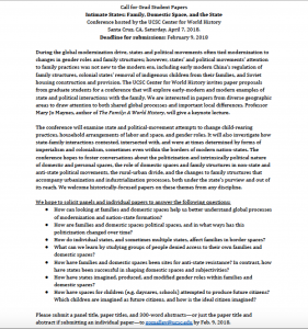 Image of the Call for Papers