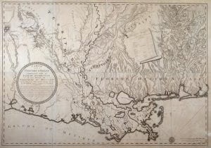 Historic map of the Lower Mississippi Valley