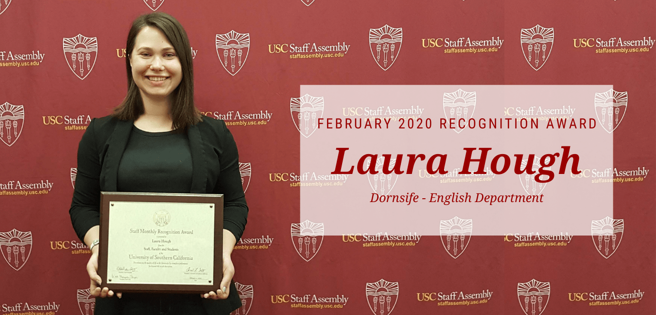 Laura Hough - February Recognition Recipient
