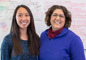 First author Stephanie T. Kuwahara (left) and corresponding author Francesca Mariani (Photo by Sergio Bianco)