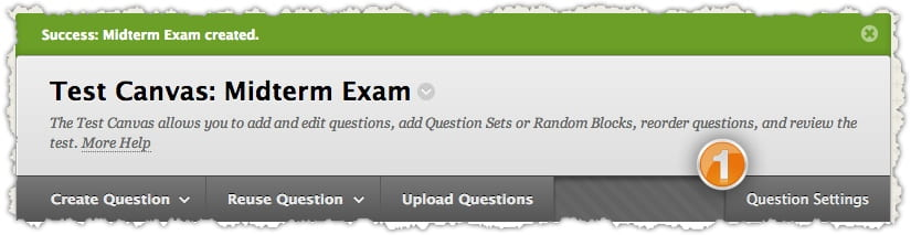 Creating Tests · Blackboard Help for Faculty