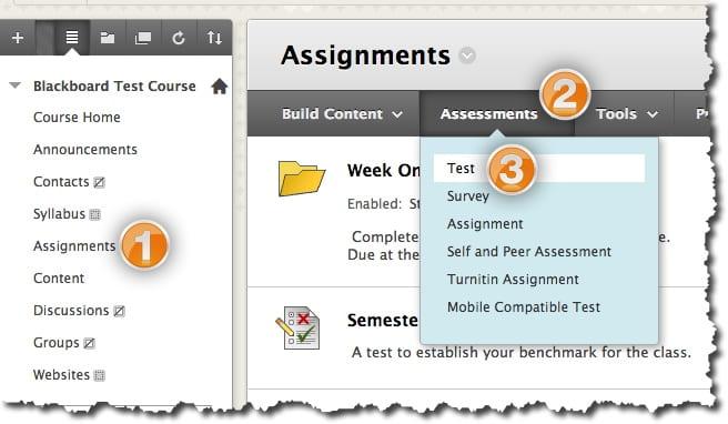 Deploying Tests · Blackboard Help for Faculty