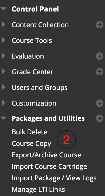 Copy Content from One Course to Another · Blackboard Help