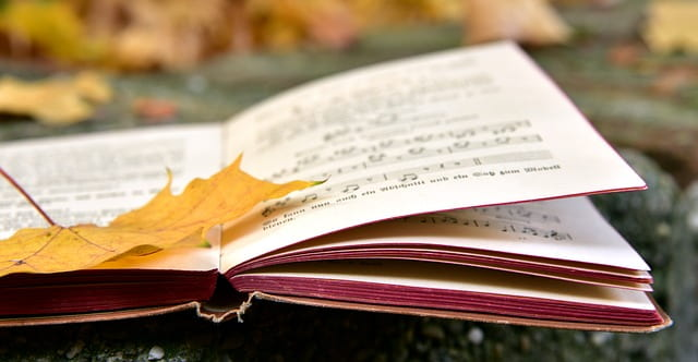 Music Book with Leaf
