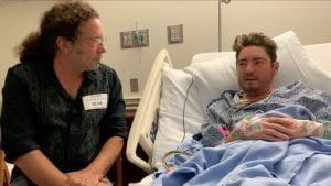 Daniel in his hospital room
