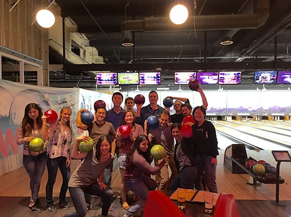 Lab bowling, November 2015 (crazy mode)