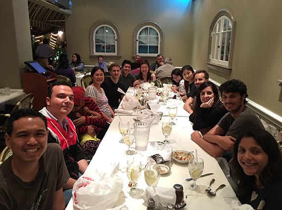 Dinner after fun laser tag games, March 2016