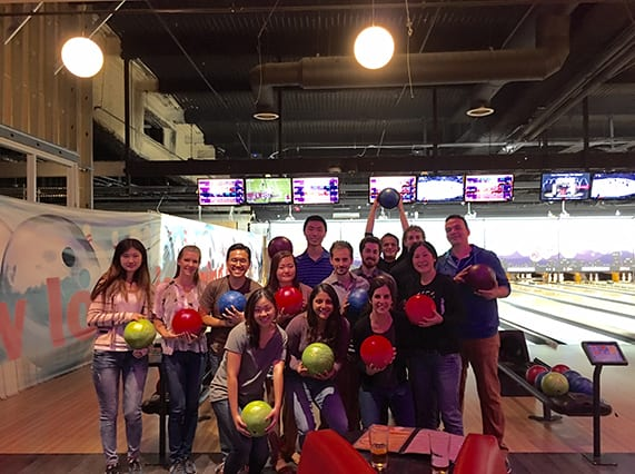 Lab bowling, November 2015 (serious mode)