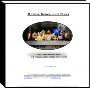 Memes, Genes, and Cenes: image of book