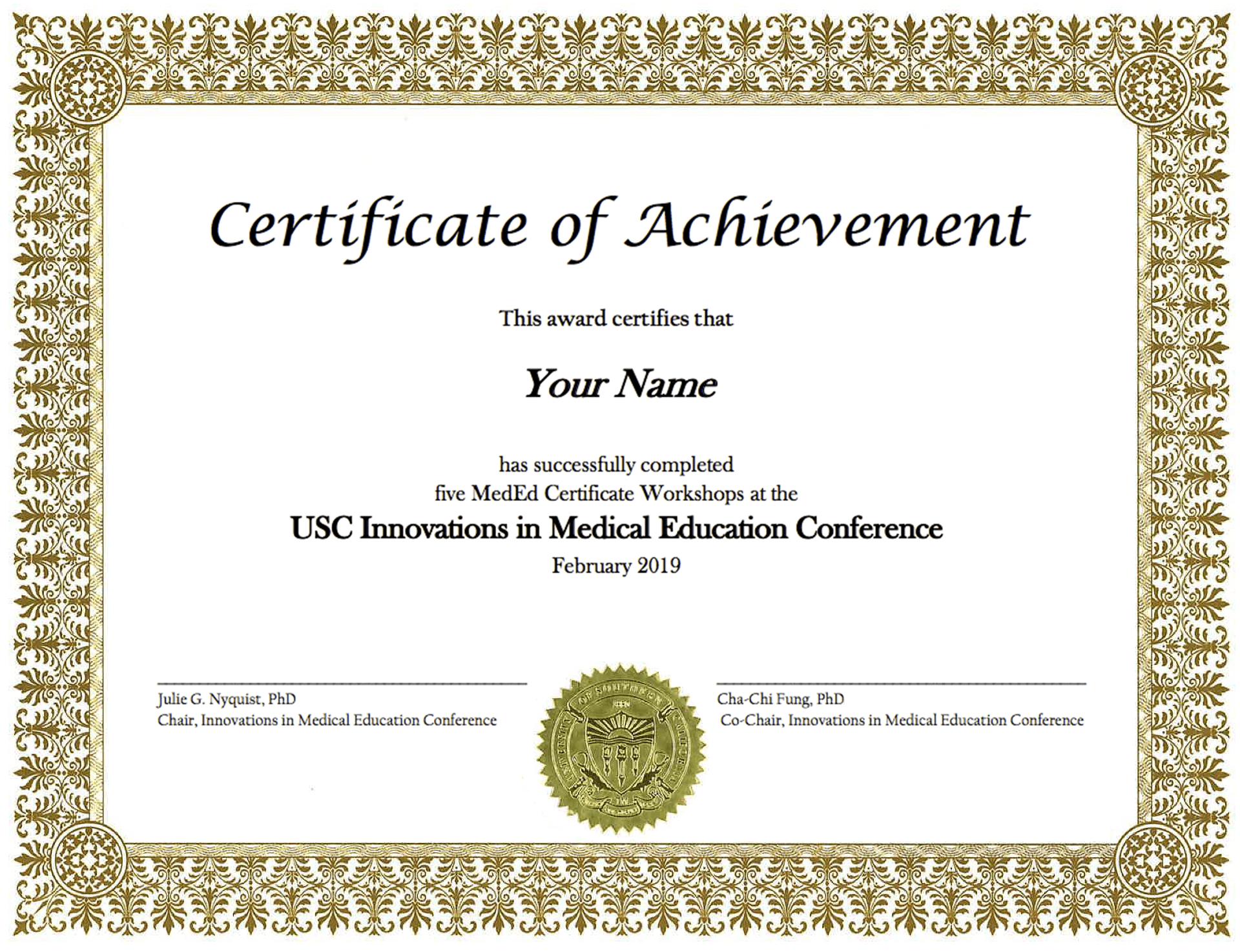 MedEd Certificate
