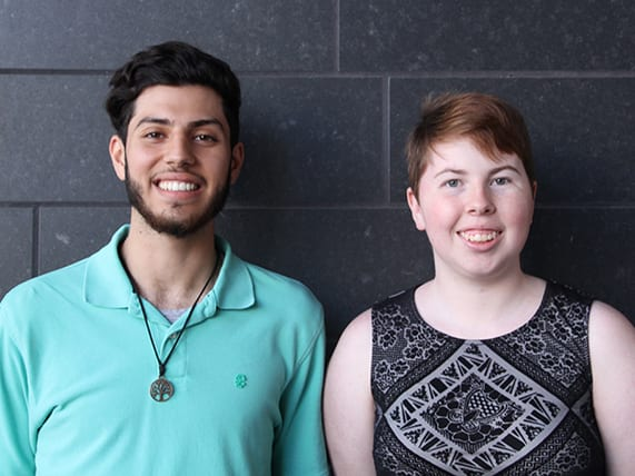 Countdown to Commencement: Meet graduates Mohamed El-Farra and Anna Konecny
