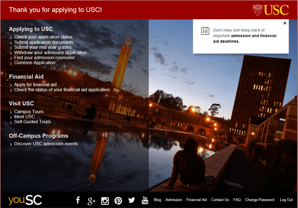 applying to usc