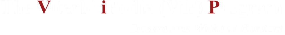 The Viterbi iPodia (ViP) Program logo
