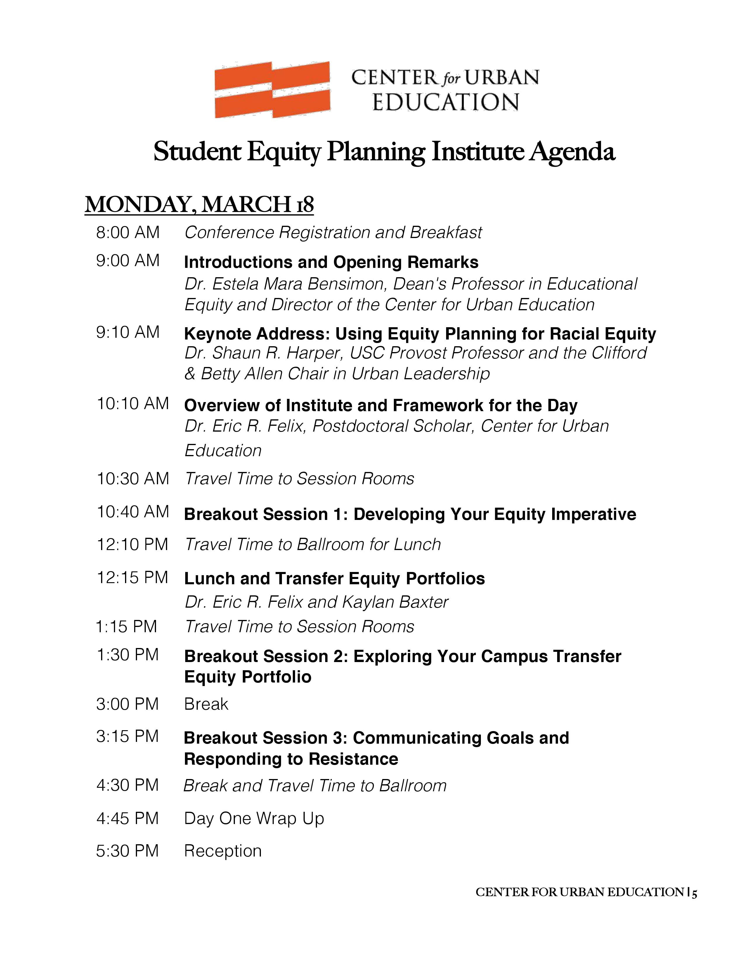 Student Equity Planning Institute (SEPI) 2019 | Center for
