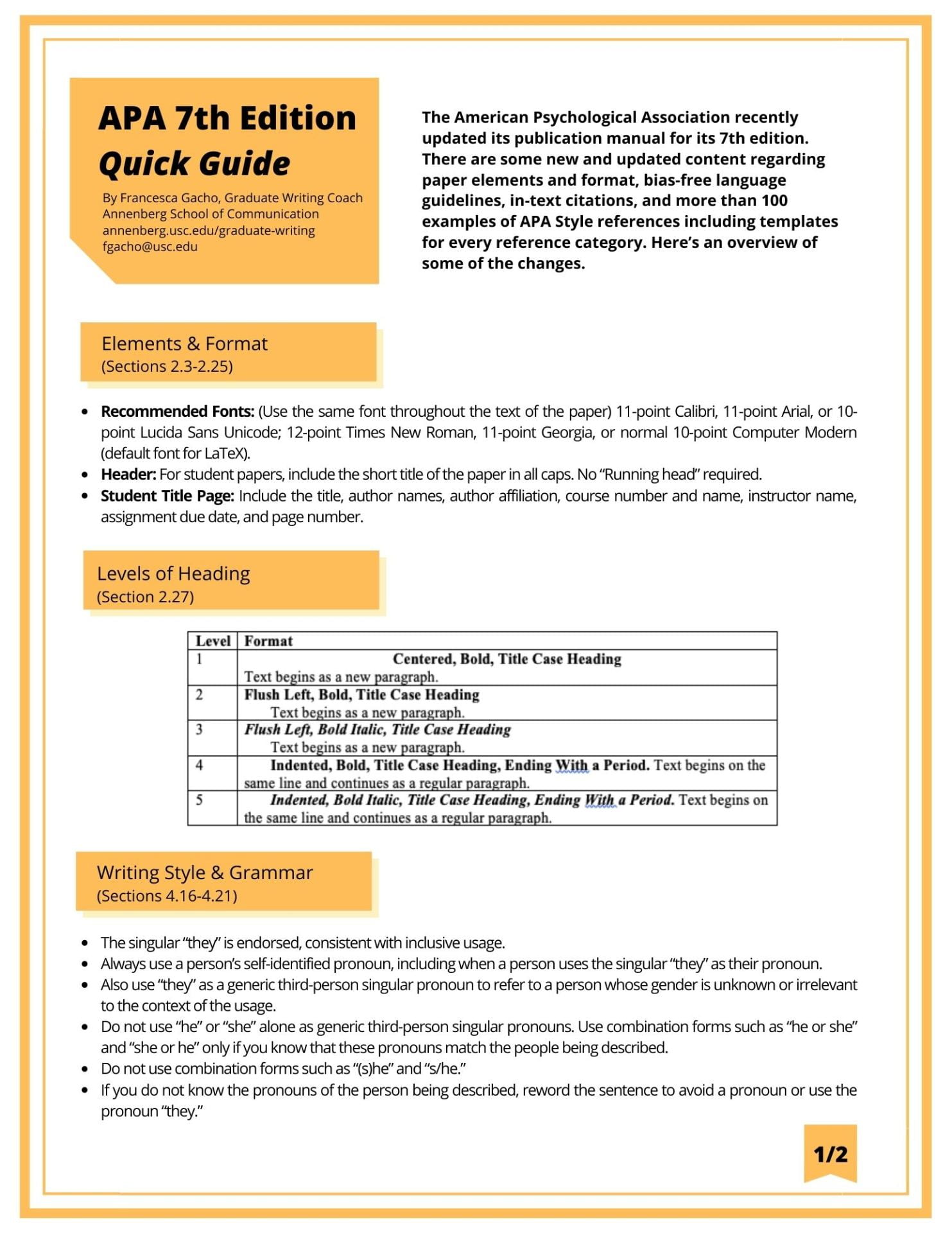 A Quick Guide To The Apa Publication Manual 7th Edition Graduate Writing Coach In Text Citation Paragraph Number