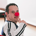 Photo of boy in clown nose