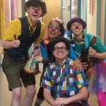 medical clowns at children's bureau for foster children