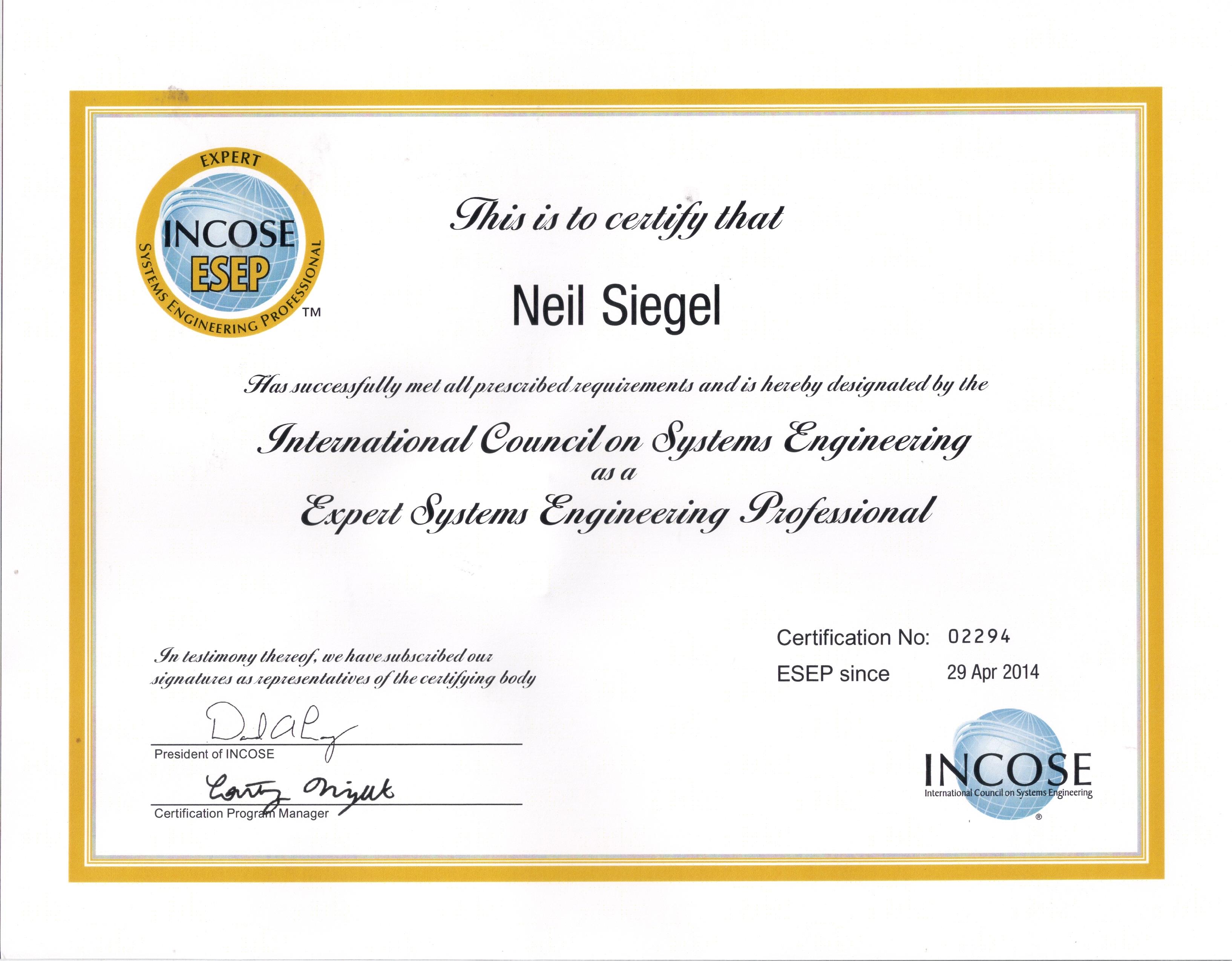 Awards Neil Siegel Phd