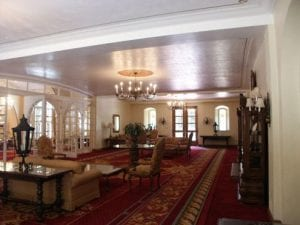 Lobby, Town and Gown interior foyer