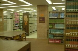Library, VKC library (stacks) - interior