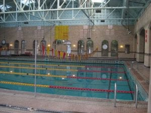 Athletic Facility, Pool (indoors) skylights interior - athletic facility
