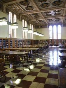 Library, LA Times Reading Room