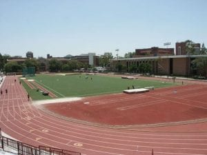 Athletic Facility, Cromwell Field - Javelin throwing area exterior; Athletic Facility - Track and Field