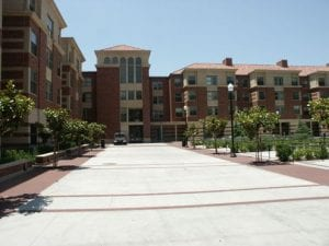 Building Exterior (modern), Parkside Arts & Humanities Residence - Brick Exterior Dorm With Arched Walkway