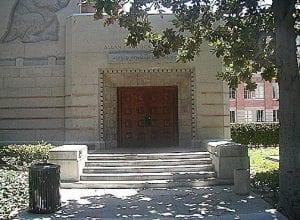Building Exterior (brick), Entrance (side door) to Hancock Bldg. Building - entrance exterior
