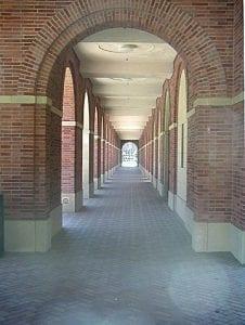 Colonnade, Lewis Building Colonnade exterior - brick