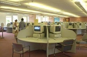 Computer Lab, Leavey Library Computer Lab - interior
