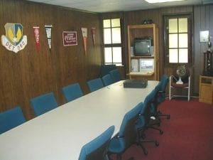 Conference Room, ROTC conference room - Wood panelled interior