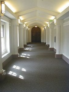 Hallway, Administration Building, 2nd floor hallway - interior